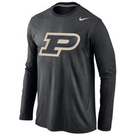 Purdue Boilermakers Nike Logo Cotton Long Sleeve T-Shirt - Black