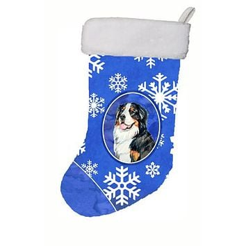 Bernese Mountain Dog Winter Snowflakes Snowflakes Holiday Christmas Stocking