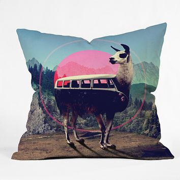 Ali Gulec Llama Van Throw Pillow