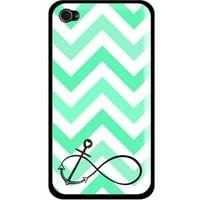 S9Q Chevron Fashion Wave Sailor Anchor Vintage Pattern Hard Back Case Cover For Apple iphone 5C Style A (green)