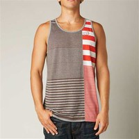 Fox Racing July Striped Tank in Gray for Men 13727-185