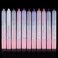 Colorful Eye Liner Pencil Waterproof Women Beauty Cosmetic Shadow Crayon Pen Set Unique 2IN1 Lip Liner Hot Selling