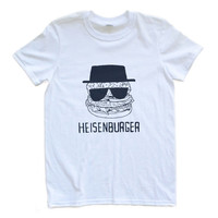 Adult Uni T Shirt Heisenburger Heisenberg Walter White Breaking Bad Small through XL