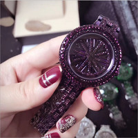 Ladies Womens Watch Silver Gold Bling Crystal Analog Quartz  steel Watch