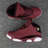 Air Jordan retro 13 wine red men basketball shoes retro 13s Sports shoes Sneakers size 36-47