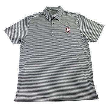 Stanford University Cardinals Under Armour Polo Shirt Mens Size Medium