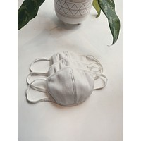 Thermal Cotton Face Mask - White