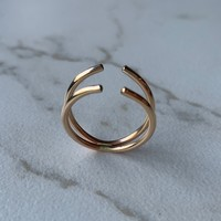 Gold Double Linea Ring