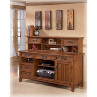 H319-48 Home Office Short Desk Hutch