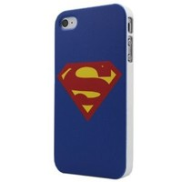 Classical Superman S Symbol Badge Hard Back Skin Case Cover for iPhone 4 4G 4S