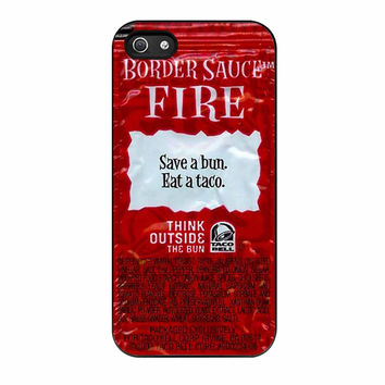 Taco Bell Packet Fire iPhone 5 Case