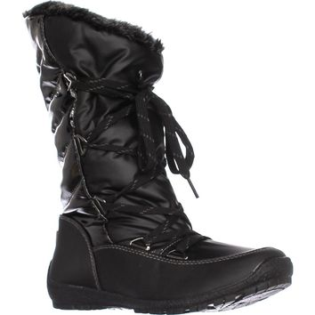 Sporto Charley Faux Fur Lined Snow Boots, Black, 8 US