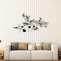 Vinyl Wall Decal Musical Notes Music Art Home Decoration Stickers Unique Gift (566ig)
