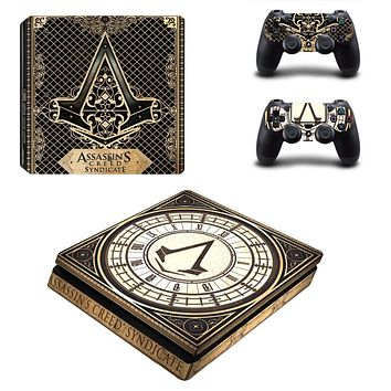 PS4 Slim Skin Sticker Assassins Creed Console & Controller Decal Stickers for PS4 Slim Console and Controller