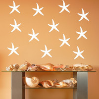 Vinyl Wall Decals Starfish Set of 5 Inch Nautical Beach Theme Decals 22519