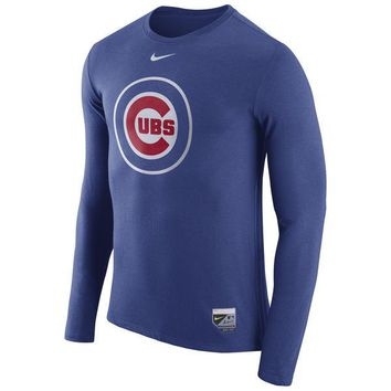 Chicago Cubs Nike Authentic Collection Blend Performance Long Sleeve T-Shirt - Royal