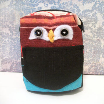 Owl Plush Recycled Pencil Carrier- Micky