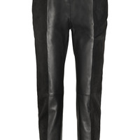 Proenza Schouler Suede and leather tapered pants – 65% at THE OUTNET.COM