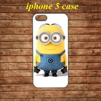 iphone 5 case,iphone 5 hard case,iphone 5 cover,iphone 5 hard cover---Despicable Me Minion Mustache,in plastic