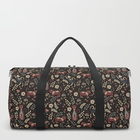 Cute cats. Brown pattern Duffle Bag by artcolours