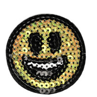Smiley Face Iron-On Patch