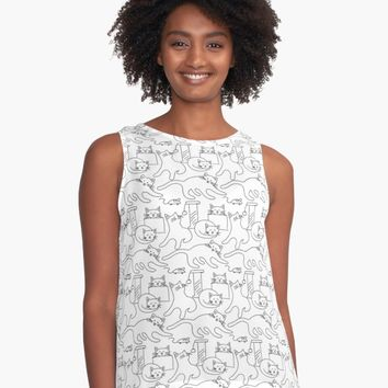 'Cats Being Cats' Contrast Tank by DesignCats