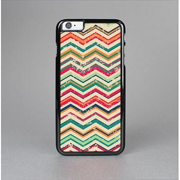 The Tan and Colored Chevron Pattern V55 Skin-Sert for the Apple iPhone 6 Skin-Sert Case