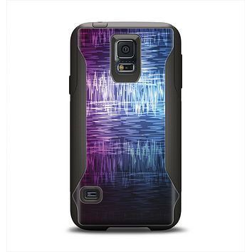 The Vibrant Colored Lined Surface Samsung Galaxy S5 Otterbox Commuter Case Skin Set