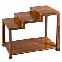 Art Deco Walnut and Cherry Side Table by Eugene Schoen