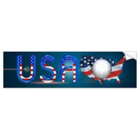 TOP Volleyball in the USA Bumper Sticker