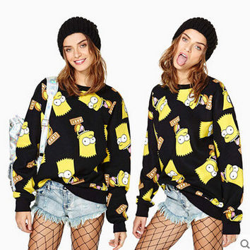 Simpson Print Hoodies [8540893703]