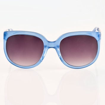 Matthew Williamson Sunglasses With Detailed Arms in Sapphire