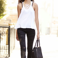 Blank NYC Skinny Classique Shredded Black Skinny Jeans