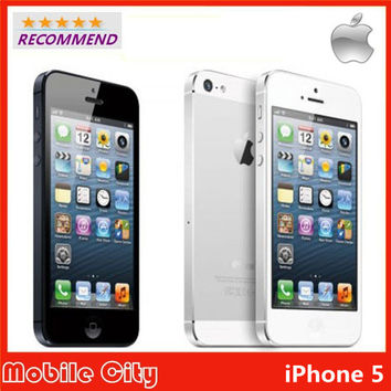 """Refurbished Unlocked Apple Original iPhone 5 cell phone 16&32&64GB Dual-Core 1GHz 3G WIFI GPS 8MP 1080P 4.0"""" IPS Free Shipping"""