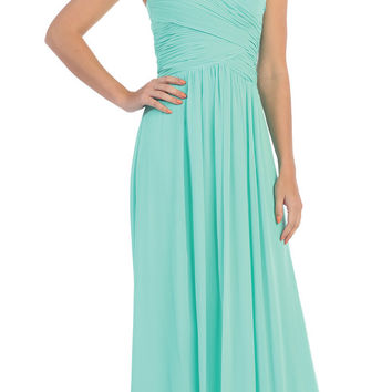 Starbox USA L6126 Sweetheart Ruched Chiffon Mint Bridesmaid Dress