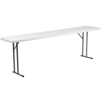 18''W x 96''L Granite Plastic Folding Training Table