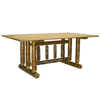 Montana Woodworks Glacier Country Trestle Based Dining Table