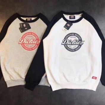 Dickies Print Long Sleeve Fashion Top Sweater Pullover