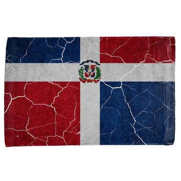 Distressed Dominican Republic Flag All Over Hand Towel