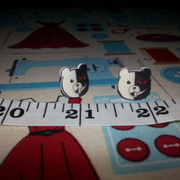 Dangan Ronpa Monokuma Stud Earrings