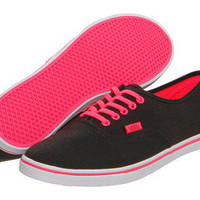 NIB Vans Authentic LO PRO (Neon) Black Pink Women Shoes