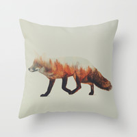 Norwegian Woods: The Fox Throw Pillow by Andreas Lie