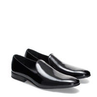 SYNTHETIC PATENT LEATHER MOCCASIN - Shoes - MAN | ZARA United States