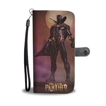 KUYOU Black Panther Avenger Again Wallet Phone Case