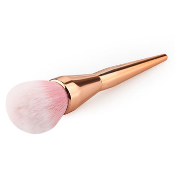2017 Hot Rose Gold Powder Blush Brush Professional Makeup Brush 200 Flawless Blush Powder Brush Kabuki Foundation Make Up Tool