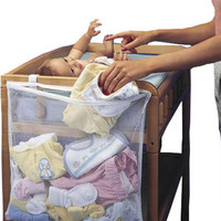 48 * 60cm Large Baby Bed Storage Hanging Storage Organizer Easily Fix On baby Cribs Bed Crib Organizer Crib Storage