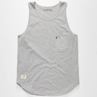 Lira Aussie Mens Tall Tank Heather Grey  In Sizes