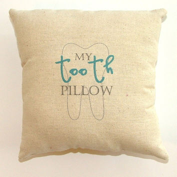 SALE - Boy Tooth Fairy Pillow with pocket on the back