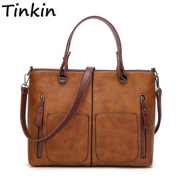 Tinkin Vintage  Shoulder Bag Female Causal Totes for Daily Shopping