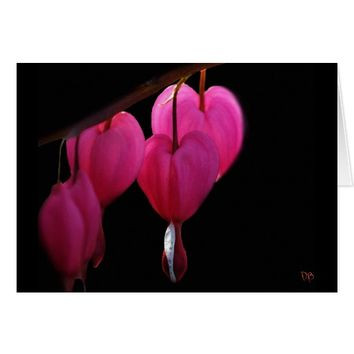 Bleeding Heart Blank Greeting Cards